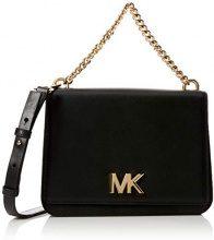 Michael Kors Mott Leather Crossbody - Borse a tracolla Donna, Nero (Black), 7x17x22.9 cm (B x H T)