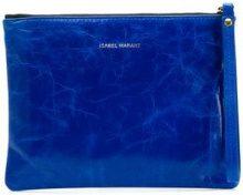 - Isabel Marant - Netah clutch bag - women - cotone/pelle - Taglia Unica - di colore blu