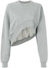- Marques'almeida - Felpa crop - women - cotone - M - di colore grigio