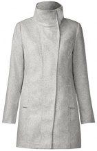 Street One OJP_Serena Wool Coat, Giubbotto Donna, Grau (Cosy Grey Melange 10998), 48 (Taglia produttore: 42)
