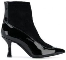 - Racine Carree - varnished ankle boots - women - Leather/Velvet/Patent Leather - 36, 37, 40, 37.5, 38, 35, 38.5, 39 - Nero