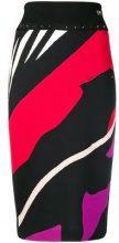 - Cavalli Class - striped pencil skirt - women - fibra sintetica - 44 - di colore nero