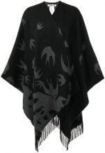 - McQ Alexander McQueen - swallow print poncho - women - lana - OS - di colore grigio