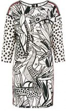 Marc Cain Collections KC 21.31 W40, Vestito Donna, Multicolore (White And Black 190), 42