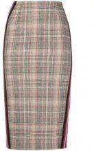 - Pinko - plaid pencil skirt - women - acrilico/fibra sintetica/acetatofibra sinteticalanafibra sinteticafibra sintetica - 42, 38 - color marrone