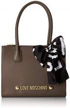 Love Moschino Borsa Soft Grain Pu - Borse Tote Donna, Grigio (Taupe), 13x27x33 cm (B x H T)