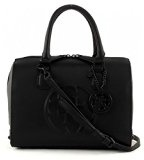 Guess Korry Box Satchel Borsa a Mano, Donna, Nero