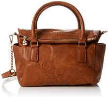 Desigual Bols_dark Amber Loverty - Borsa Donna, Marrone (Camel), 14x24x33 cm (B x H T)