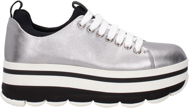 0527bff503 Sneakers Prada Donna Pelle, Tessuto 3E6264VITSOFTCROMONERO Logo Posteriore.  Pelle,Tessuto. Immagini prodotto