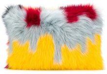 - Ultràchic - patterned faux fur clutch - women - Artificial Fur - Taglia Unica - Rosso