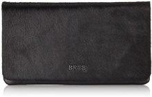 Bree 270011, Pochette Donna, Nero (Schwarz (Black/Fur 909)), 25x2x14 cm (B x H x T)