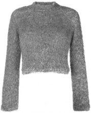 - Plys - Maglione crop - women - fibra sintetica - M, L, XS - di colore grigio