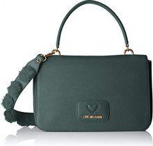 Love Moschino Borsa Pu+poliestere - Borse a spalla Donna, Verde, 6x19x29 cm (B x H T)