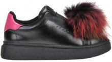 Sneakers slip-on con inserto in ecopelliccia
