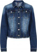Giacca di jeans effetto usato