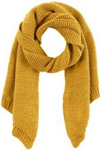 PIECES Pcdace Long Wool Scarf Noos, Sciarpa Donna, Giallo Nugget Gold, Taglia Unica