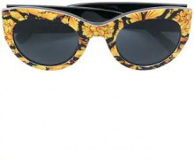 - Versace Eyewear - baroque print sunglasses - women - Acetate - 51 - giallo