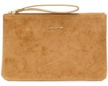 - Lancaster - zipped clutch - women - pelle - Taglia Unica - color carne