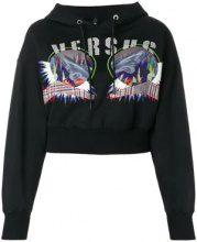 - Versus - Felpa con cappuccio - women - Polyester/Wool/Cotone - XS - Nero