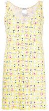 - Chanel Vintage - heart - print mini dress - women - Spandex/Elastane/Polyester - 42 - Giallo & arancio