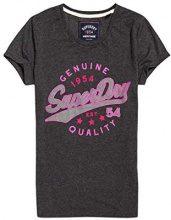 Superdry Airtex Foil Entry Tee, T-Shirt Donna, Nero (Black Marl Azb), X-Small (Taglia Produttore:8.0)