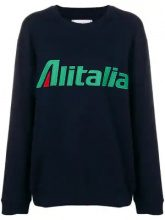 - Alberta Ferretti - Felpa con ricamo Alitalia - women - cotone - S, M, L, XL, XS - di colore blu