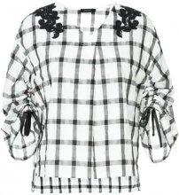 - Loveless - Blusa a quadri - women - fibra sintetica/cotone - 34 - di colore bianco