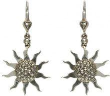Esse Marcasite Donna 925 argento Rotonda grigio Marcasite FINEEARRING