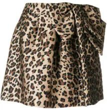 - P.A.R.O.S.H. - leopard print flared mini skirt - women - acetato/fibra sintetica - S, M, XS - color marrone