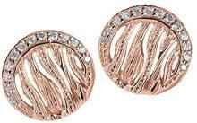 Orphelia–Orecchini da donna in argento 925rodiato con zirconi bianchi taglio rotondo–zo 6031, argento, colore: rose gold, cod. ZO-6031/1