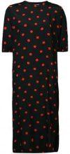 - Ganni - polka dot shift dress - women - viscose - 38 - di colore nero