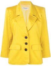 - Yves Saint Laurent Vintage - single - breasted blazer - women - seta/fibra sintetica - 40 - di colore giallo