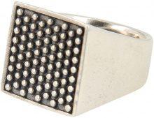 Anello Argento 925 Quadrato Borchiato
