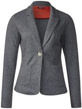 Street One Houndstooth Sweat, Blazer Donna, Schwarz (Black 20001), 36