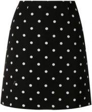- Vivetta - polka dot mini skirt - women - acetato/fibra sintetica - 42 - di colore nero