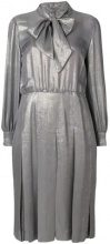 - Nina Ricci Vintage - metallic dress - women - fibra sintetica - 44 - di colore grigio