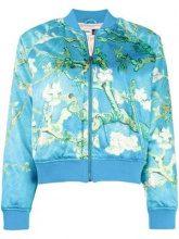 - Vans - blossom print bomber jacket - women - Polyester - M - Blu