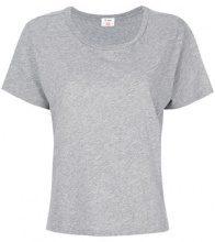 - Re/Done - T - shirt basic - women - cotone - XS, S, M, L - di colore grigio