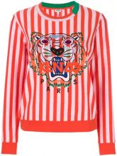 - Kenzo - tiger motif striped sweatshirt - women - cotone/Polyester - S - di colore rosa