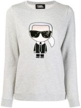 - Karl Lagerfeld - iconic Karl sweatshirt - women - cotone - S, M, L, XL, XS - di colore grigio