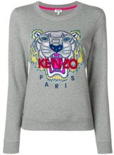 - Kenzo - Tiger crew neck sweatshirt - women - cotone - XL - di colore grigio