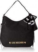 Love Moschino Borsa Soft Grain Pu - Borse a secchiello Donna, Nero, 9x35x37 cm (B x H T)