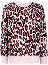 - Kenzo - leopard print sweatshirt - women - cotone/fibra sintetica - M, L, XS, S - di colore rosa
