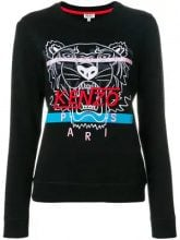 - Kenzo - tiger embroidered sweatshirt - women - cotone/fibra sintetica - S, M - di colore nero