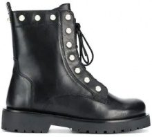 - Twin - Set - pearl - embellished boots - women - Leather/Rubber - 39, 40, 41 - di colore nero