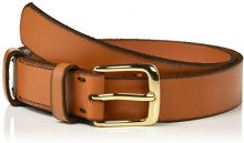 PIECES Pclagneta Leather Jeans Belt, Cintura Donna, Marrone (Cognac), 85 cm (Taglia Produttore: 85)