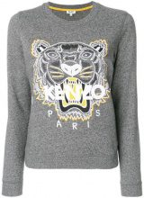 - Kenzo - Felpa 'Tiger' - women - fibra sintetica/cotone - XL - di colore grigio