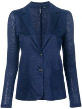 - Woolrich - Blazer monopetto - women - Linen/Flax - L - Blu