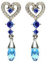 Cristalina Donna base metal Pera blu Cristallo FASHIONEARRING