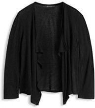 ESPRIT Collection - fließend weiche Qualität, Cardigan Donna, Nero (BLACK 001), 34 (Taglia Produttore: XS)